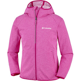 Columbia Heather Canyon Softshell Jacket Youths Haute Pink Heather